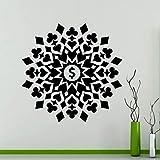Poker Poker Mandala Card Set Living Room Wall Sticker Vinilo Calcomanía Family Wallpaper Calcomanía Mural Art 57 * 57C M