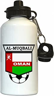Abdulaziz Al-Muqbali (Oman) Soccer Water Bottle White