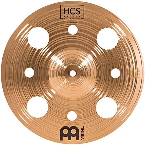 Meinl Cymbals 12 Trash Splash with Holes HCS Traditional Finish Bronze for Drum Set Made In product image