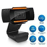 Echden Webcam, Ultra HD 720P Webcam, with Microphone, Plug & Play For Desktop