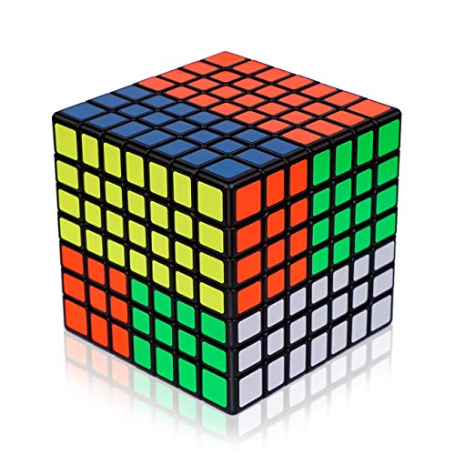 Findbetter 7S 競技用キューブ 7x7x7 立体パズル 令和進化版 7x7 令和進化版 黒素体 世界基準配色 PVCシール こども 脳トレ 知育玩具 回転スムーズ