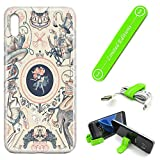 [Ashley Cases] for Galaxy A50 Cover Case Skin with Flexible Phone Stand - Alice in Wonderland Weirdcard Falling