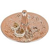 MyGift Copper-Tone Ceramic Heart Design Ring Dish