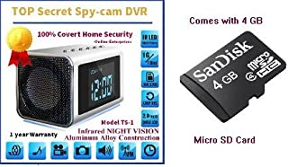 Online-Enterprises MVS01 Top Secret Spy Camera, Mini Clock Radio, w/4Gb Sd Card included.Use it to catch a thief, watch construction crews in your house or just monitor the driveway.