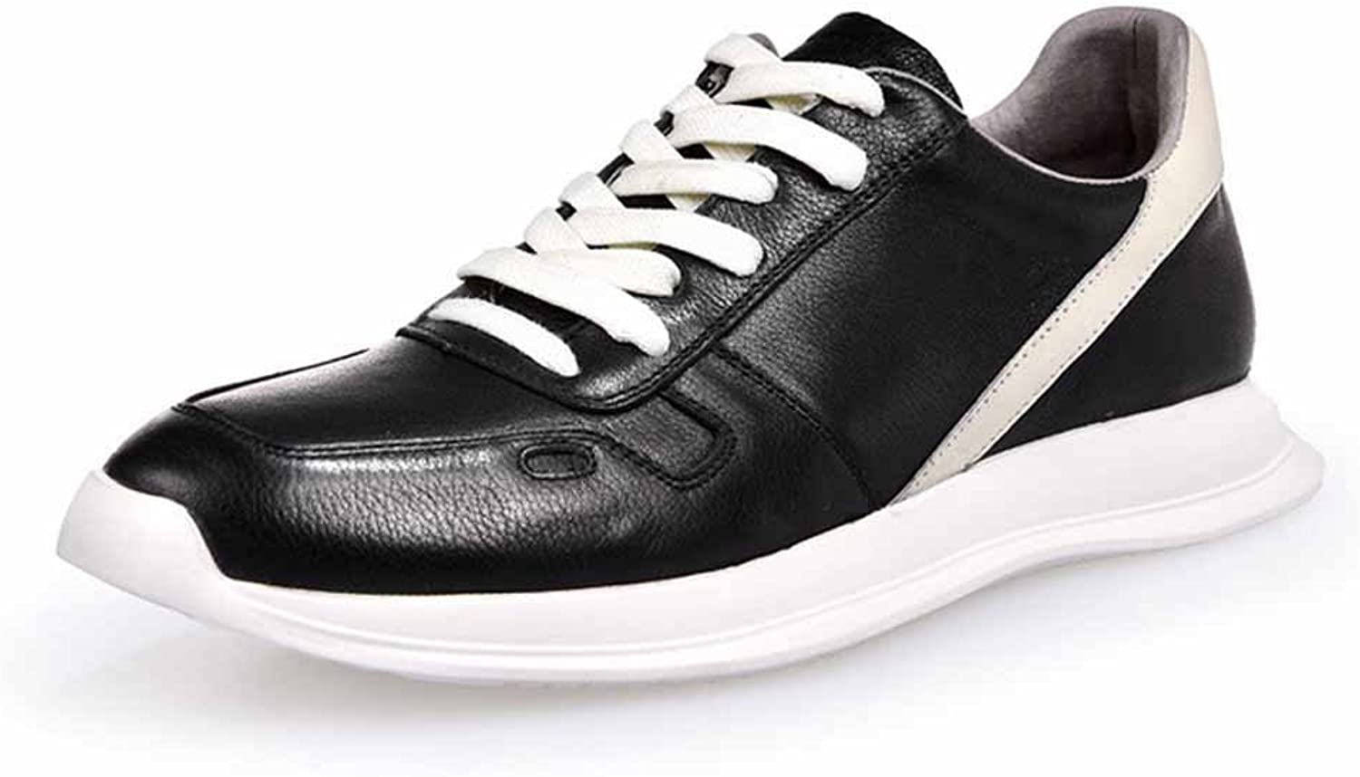 GLSHI Men shoes New White shoes Men's Leather Sports shoes shoes Korean Wild Casual shoes