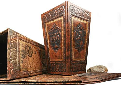 LEATHERKIND Storia Mülleimer handgefertigt Classico Haselnussbraun Regular (31cm x 20cm x 14cm)