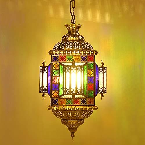 Pn&cc Lámpara Marroquí, Lámpara De Techo, Lámpara De Dormitorio Cálido, Iluminación Árabe, De Latón Árabe
