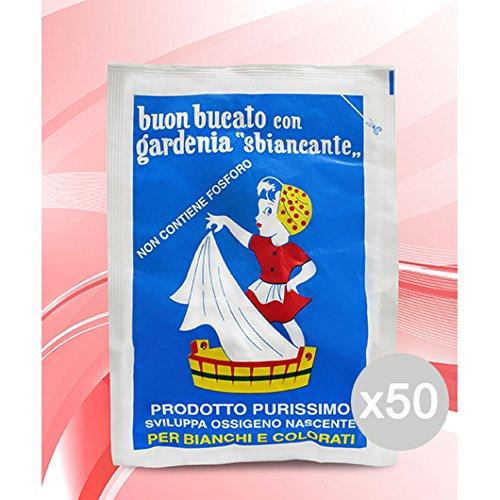 GARDENIA Set 50 Sbiancante Busta Gr 100 Perborato Detersivo Lavatrice E Bucato
