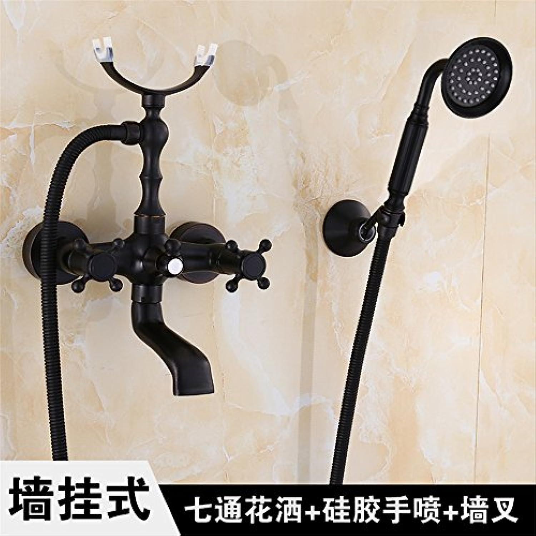 FHLYCF europischen stil retro - kupfer, schwarz, rotary - dusche, badewanne, dusche, dusche - kopf hand gesetzt,o