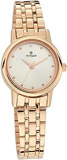 Titan Women's Analogue Quartz Rose Gold Stainless Steel Strap Watch - 2593WM01