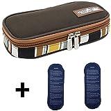 Bolso médico refrigerador portátil LOKEP con organizador de insulina para diabéticos, con 2 compresas de hielo, marrón