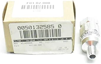 NEW WILKERSON F01-02-000 INLINE PARTICULATE FILTER 1/4 PNEUMATIC FILTER D508959