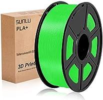 SUNLU 3D Printer PLA+ Filament 1.75mm, 1KG/2.2lbs Spool, PLA plus Filament 1.75 +/- 0.02mm for 3D printing 3D Pen