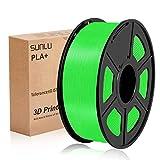 Sunlu SLUK-PLA + BK-1KG PLa Plus Filma a filamento stampante 3D, diametro da 1,75 mm, accuratezza dimensionale +/- 0,02 mm, 2,2 libbre (1 kg) bobina, verde
