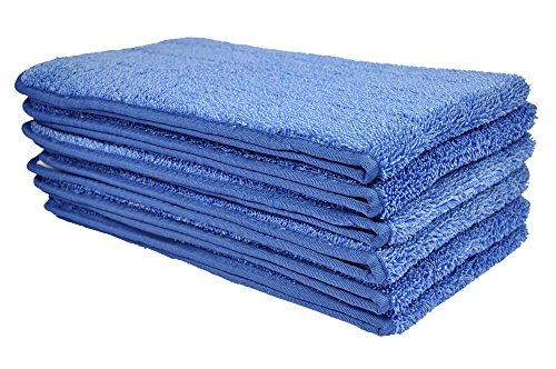 CleanAide All Purpose Mega Microfiber Mop Pads for 24 Inch Plate 6 Pack