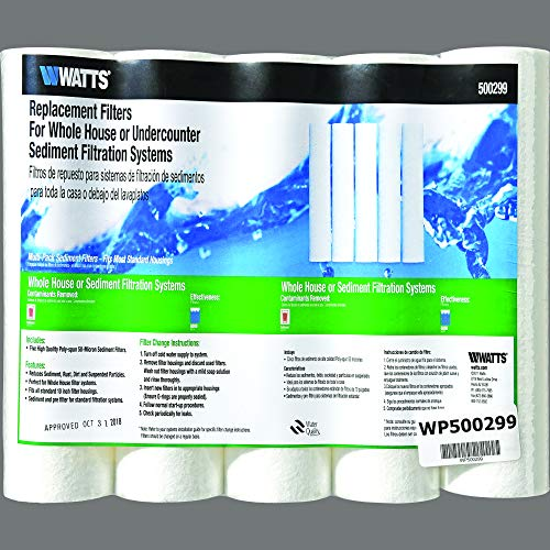 Watts Premier Replacement Filters- Whole House, 5-Pack