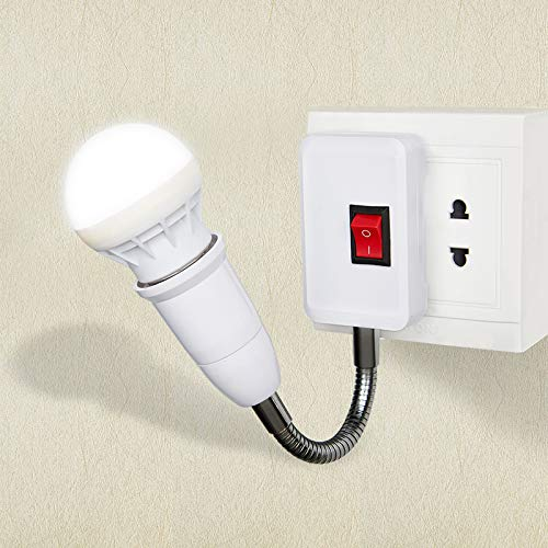 Kleine Nachtlicht elektrische Steckbett Kopf energiesparende LED-Licht mit Schalter Schraube Lampe Sitz kreative Nachtlicht