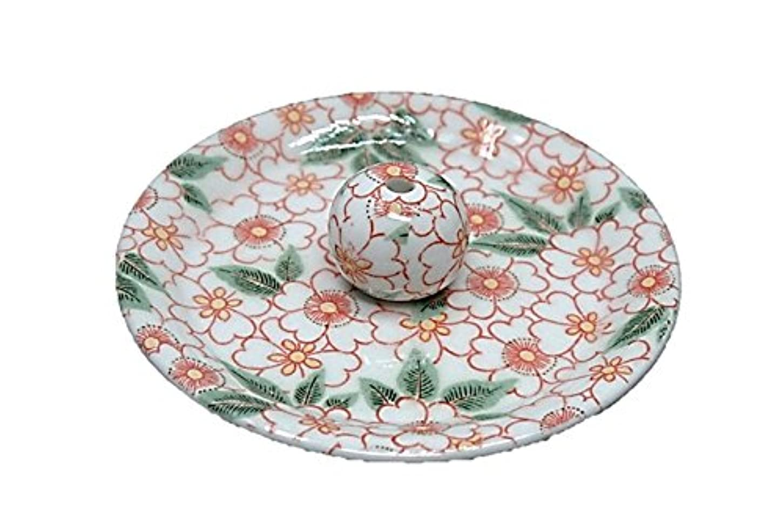 スチールを除くパキスタン9-32 朱華柳 9cm香皿 お香立て お香たて 陶器 日本製 製造?直売品