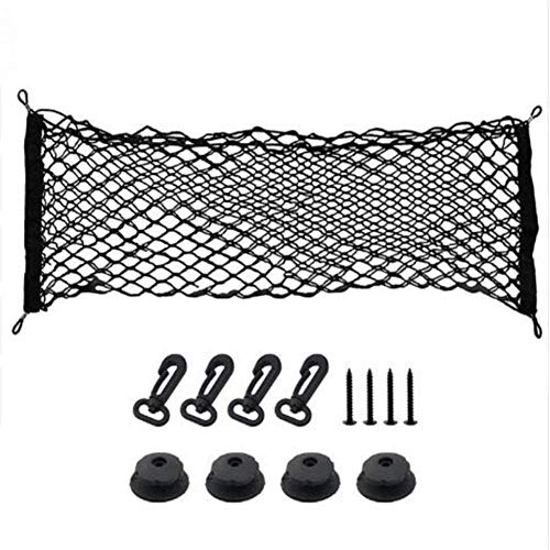 Car Storage Net 90 X 40CM Car Universal Black Luggage Net Holder for SUV Truck Bed or Trunk evolutions