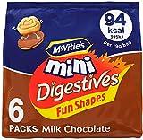 McVitie's Mini Digestives Biscuits Fun Shape Milk Chocolate, 114g