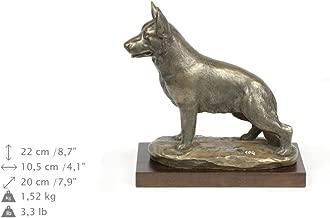 German Shepherd Dog, Dog Figure, Statue on Woodenbase, Limited Edition, Artdog