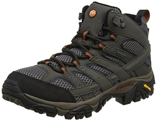 Merrell Men's High Rise Hiking Boots, Grey Beluga, 11