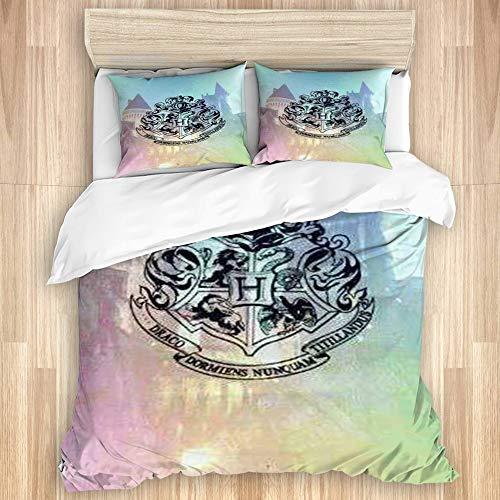 YZBEDSET Bedding Juego de Funda de Edredón,Harry Potter,Microfibra Funda de Nórdico y Fundas de Almohada-(Cama 220 x 240cm)