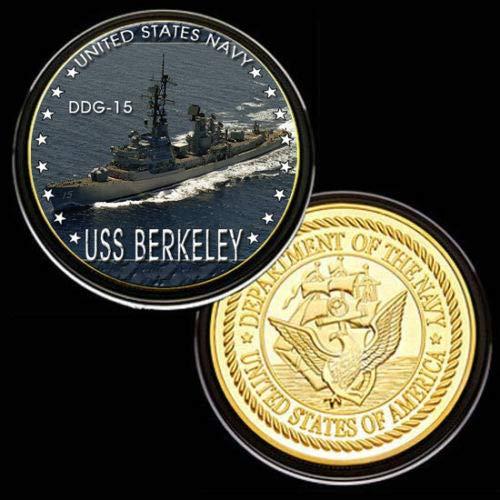 U.S. United States Navy | USS Berkeley DDG-15 | Gold Plated Challenge Coin