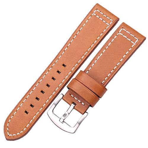 YGLONG Correa Reloj Bandas de Reloj de Cuero Pulsera Black Blue Grey Brown Reloj de la Correa para Las Mujeres Hombres 18 20mm 22mm 24mm Pulsera Correa Piel Reloj