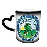 StateSeal of NorthDakota State - Taza de café con cambio de color