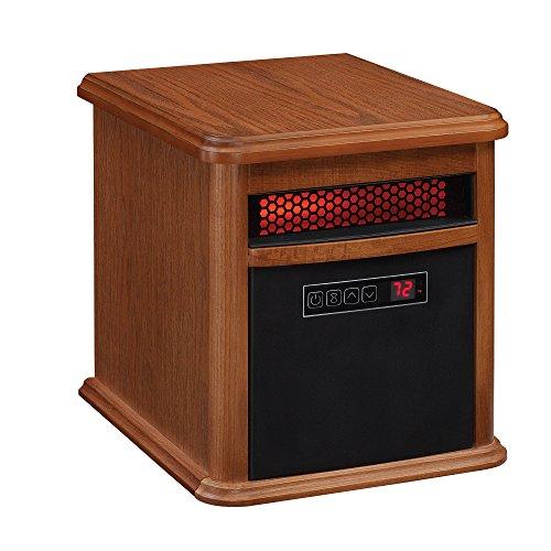 Duraflame 9HM9126-O142 Portable Electric Infrared Quartz Heater, Oak
