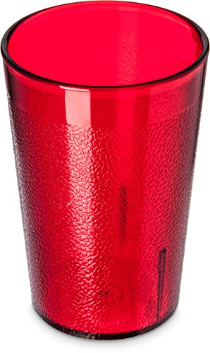 Carlisle empilable Restaurant-quality gobelets Plastique, Plastique, rubis, 8 Oz