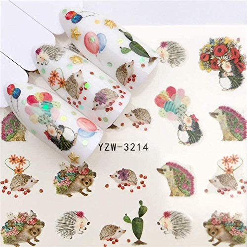 SRTYH Autocollant d'ongle Nail Art Nail Sticker Slider Tattoo Flower Water Decal Bonhomme de neige Full Wraps Designs Decals Make Nails More Beautiful-A