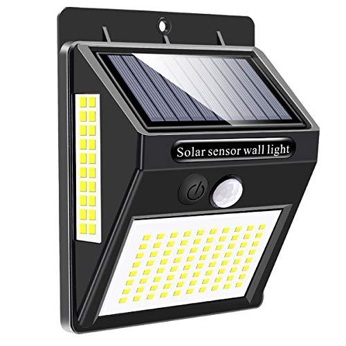 Luz Solar Exterior 120 LED, Mewtwo Focos Led Exterior Solares con Sensor de Movimiento Impermeable Ángulo 180º de Iluminación Luces Solares Led Exterior Jardin 【Actualizada 800 Lumens】