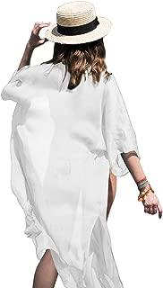 Women Chiffon Beach Dress Kimono Cardigan Swimsuit Cover Up Beachwear Dress