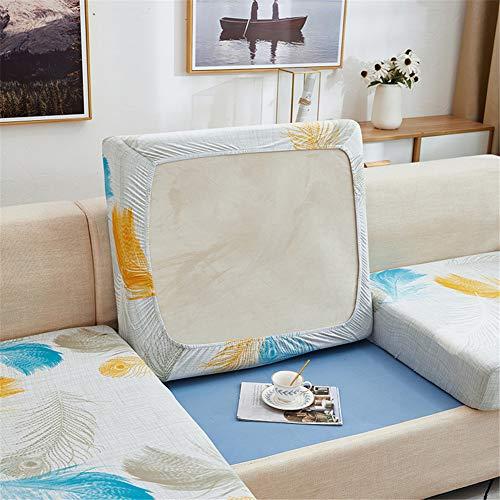 Fundas de cojín para sofá y sofá, elásticas, de repuesto para cojines individuales (gris claro, grande, 4 plazas)