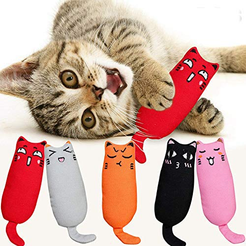 Legendog Spielzeug mit Katzenminze, 5 Stück Niedlich Plüsch Daumen Geformt Katzenspielzeug Katzenminze Set | Katzenspielzeug Beschäftigung | Spielzeug Katze | Spiele für Katzen Kitten (2#)