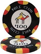 Brybelly Nile Club Casino Grade Ceramic 10-Gram Poker Chip – Pack of 50