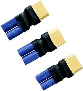 KCRTEK 3PCS EC5 Male to XT90 Female Battery Pack Adapter Connector,RC LiPo Battery Connectors