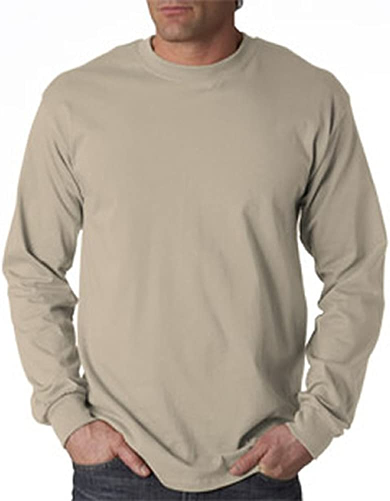 Gildan Adult 6.1 oz 100% Cotton L/S T-Shirt in Maroon - XXX-Large