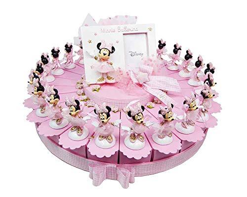 Disney Minnie Minnie Ballerina in Tortenform, 24 Scheiben mit 1 zentral rosa