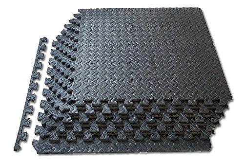 (16 mats - 5.9sqm) - Interlocking Jigsaw Floor EVA Foam Mats Tiles Playground Gym Yoga Exercise Play Mat All Sizes from 16 Sq Feet to 128 Sq Feet