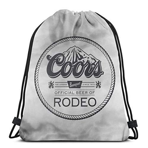 HFXY Coors Banquet Rodeo Drawstring Bolsa Deporte Gimnasio Saco Compras Viaje Mochila...