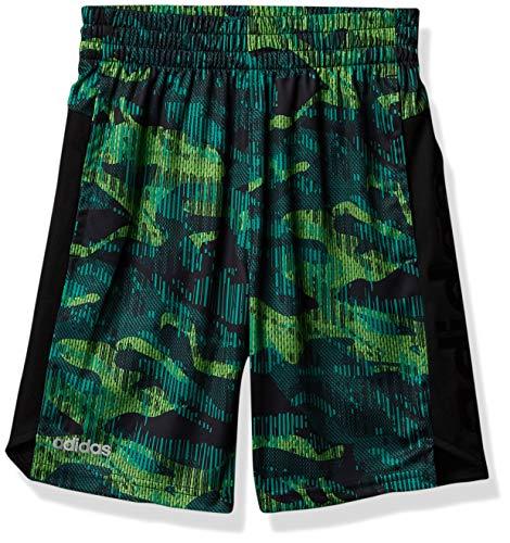 adidas Active Sports - Pantalones cortos deportivos de malla para niño, Core Camo Medio Verde, 2 Años
