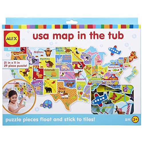 Product Image of the Alex Bath USA Map in The Tub Kids Bath Activity