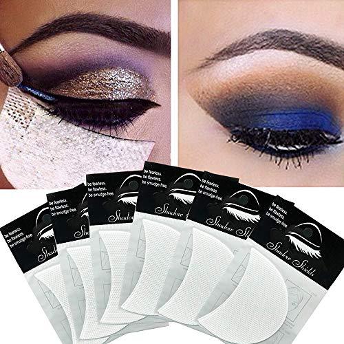 120 PCS Eyeshadow Shields,Makeup Tape Supplies,Professional Adhesive Under Eye Crease Shield,Eyeliner Stencil Stickers For False Eyelashes Extension/Perming/Tinting/Lip Makeup - Lint Free Eye Gel Pad