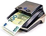 HILTON EUROPE | HE-320B SD Detector Billetes Falsos 8 SISTEMAS DE DETECCIÓN 100% TESTADO Banco Central Europeo | Actualizado a todos los billetes del sistema EURO (Sin Batería)