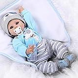 ZIYIUI Reborn Babypuppen Babys mädchen wirklich Silikon Neugeborenes Puppe Handwerk Spielzeug 22 Zoll 55 cm Lebensechte Babys Puppe Puppen