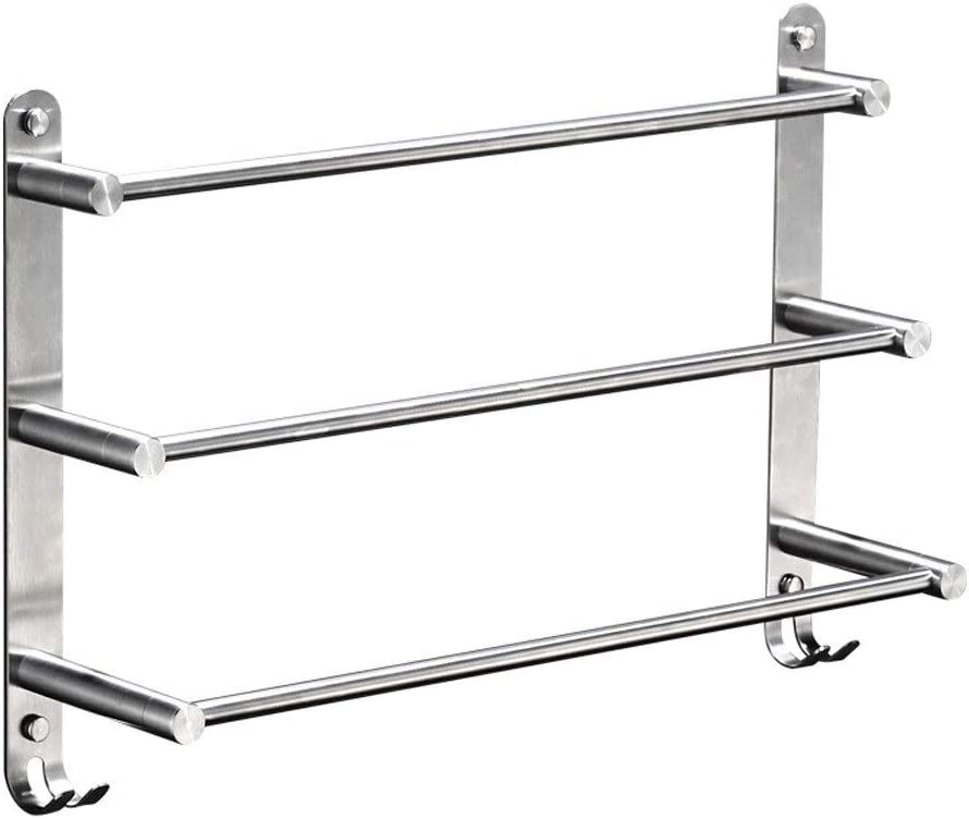 Thwarm Bathroom Towel Rack Max 45% OFF with Stainles 304 Wall Max 43% OFF Hooks Mounted