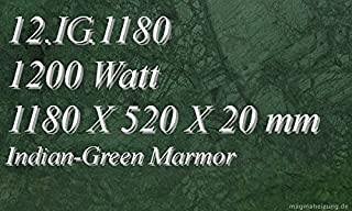 Calefacción por infrarrojos–Calefactor de infrarrojos eléctrico (mármol Magma Calefacción 1200W 12. IG.1180R con termostato con 2luces de control, interruptor y ajuste de temperatura Control